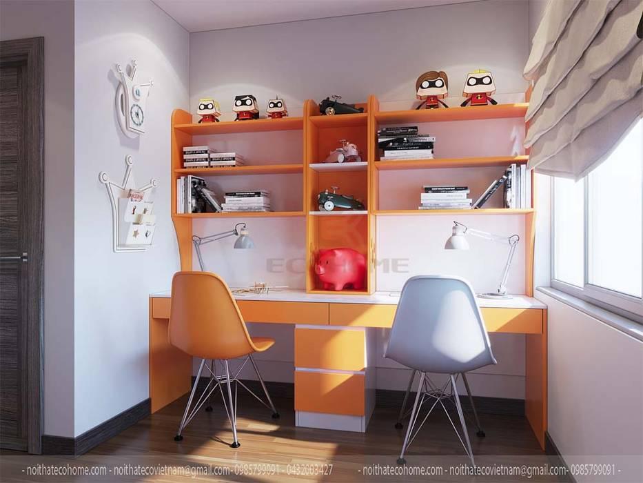 Phòng ngủ con 2 Phòng ngủ phong cách hiện đại bởi homify Hiện đại
