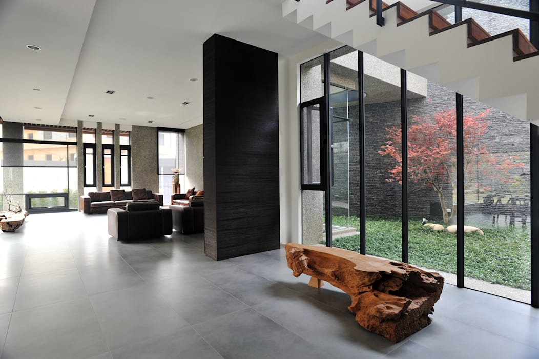 Vườn phong cách tối giản bởi 黃耀德建築師事務所 Adermark Design Studio Tối giản