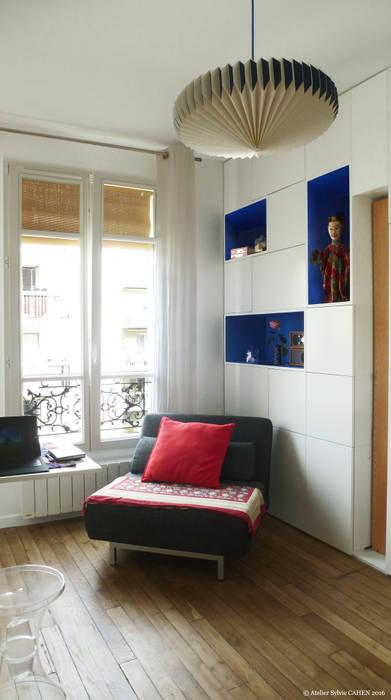 ORIGAMI: Salon de style  par Atelier Sylvie Cahen