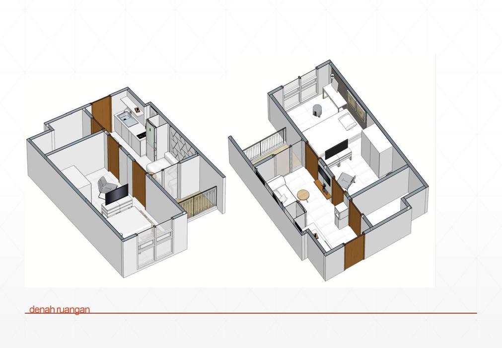 layout dan aksonometri:  Kamar Tidur by jaas.design