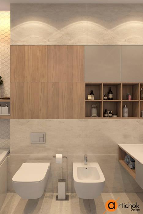 Minimalist style bathroom by Artichok Design Minimalist Stone
