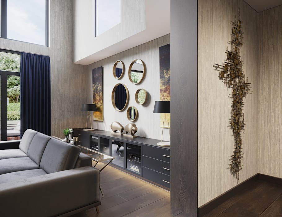 Formal Lounge Sideboard:  Living room by FALCHI INTERIORS LTD