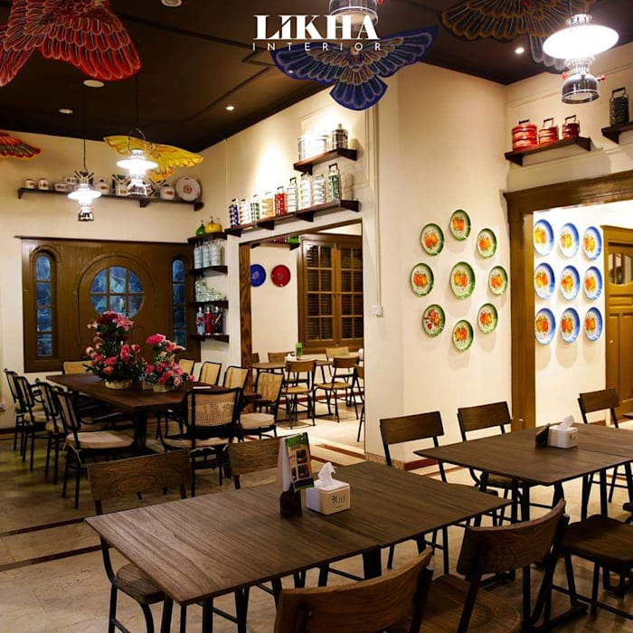 Likha Interior Asian style gastronomy Plywood Brown