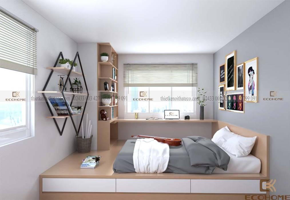Phòng ngủ con 2:  Phòng ngủ by Công Ty TNHH Xây Dựng & Nội Thất ECO Việt Nam,