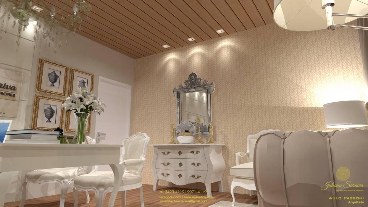 Espacios comerciales de estilo  por Juliana Saraiva Arquitetura & Interiores