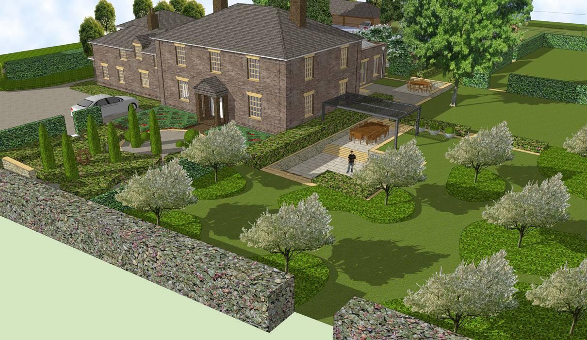 Hertfordshire Country Estate Garden (Braughing):  Front garden by Aralia