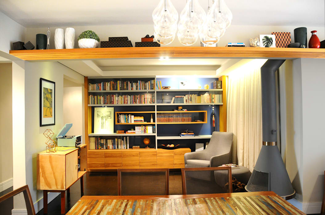 MARIA FERNANDA PEREIRA Modern study/office Solid Wood Blue