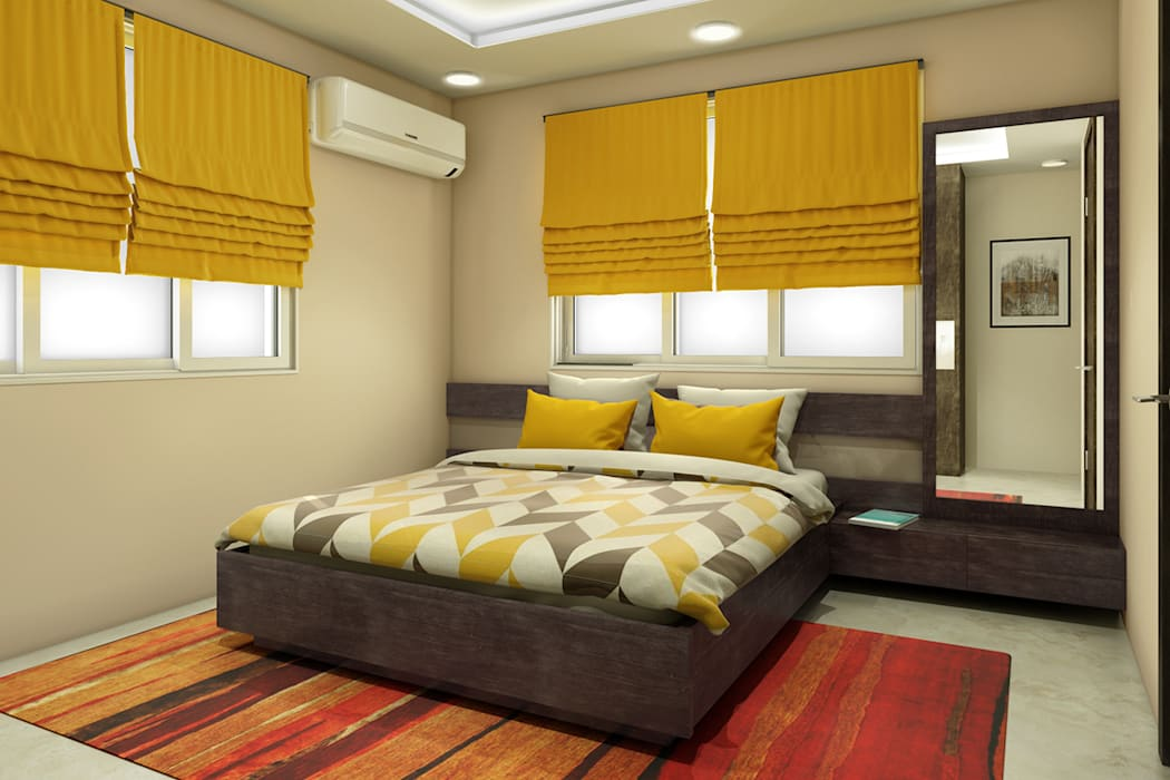 Residence Interiors: asian Bedroom by Spaces Alive