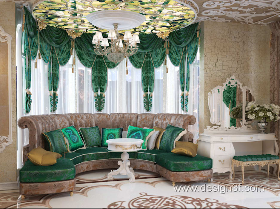 Asian style living room by студия Design3F Asian