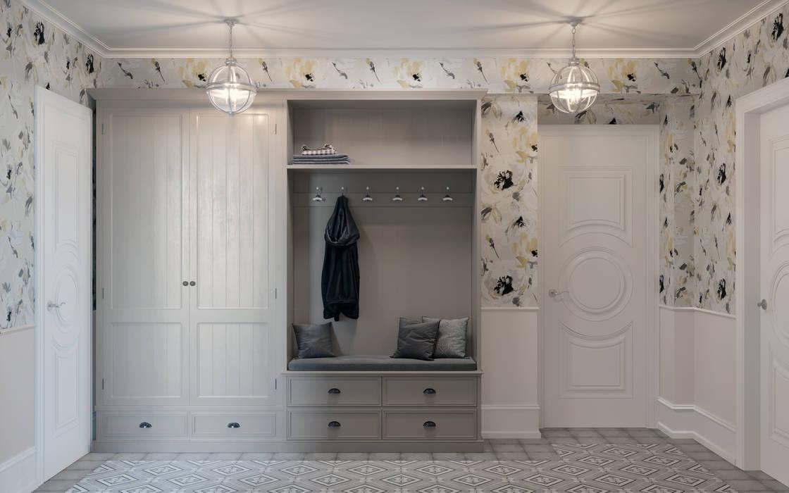 Квартира на Ломоносовском проспекте Коридор, прихожая и лестница в классическом стиле от 3D GROUP Классический