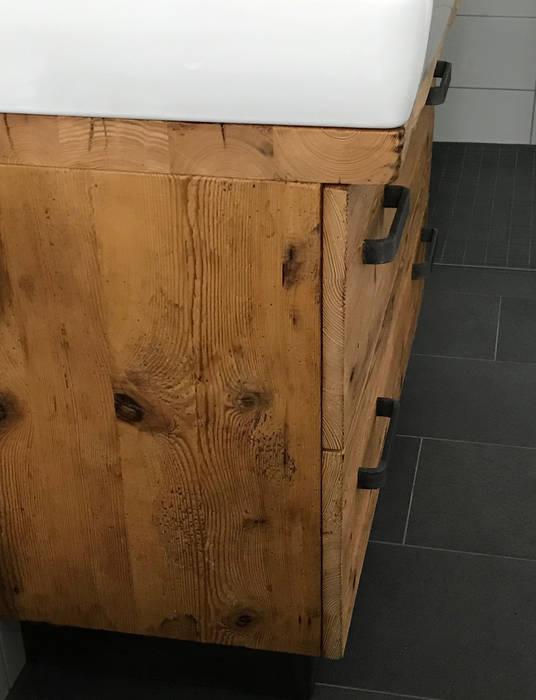 Waschtisch 3 - Designmöbel aus Altholz woodesign Christoph Weißer BadezimmerAufbewahrungen Holz