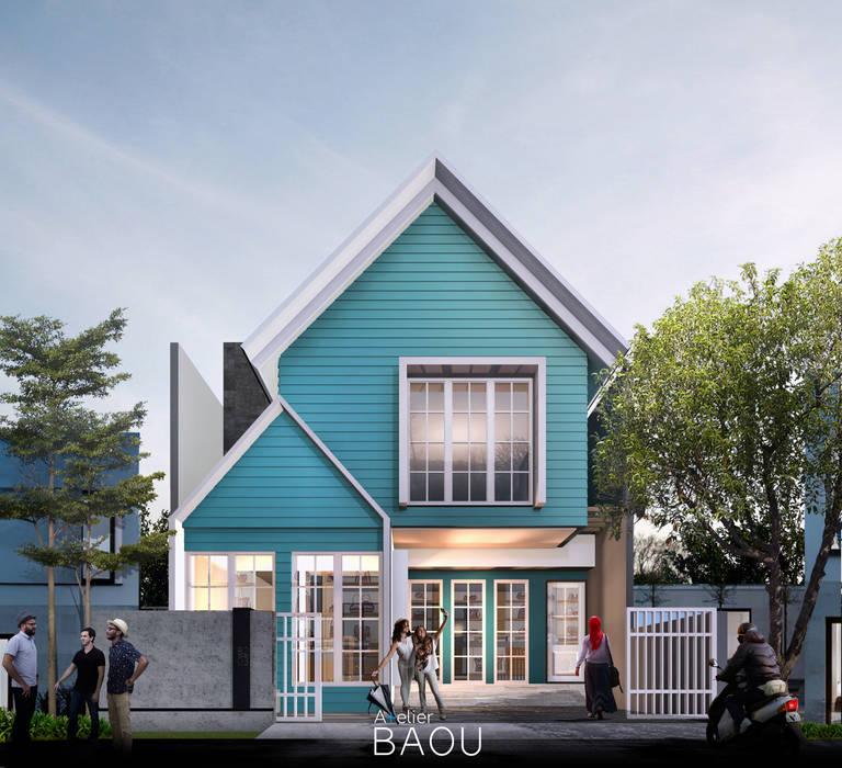 Z HOUSE:  Rumah kayu by Atelier BAOU+
