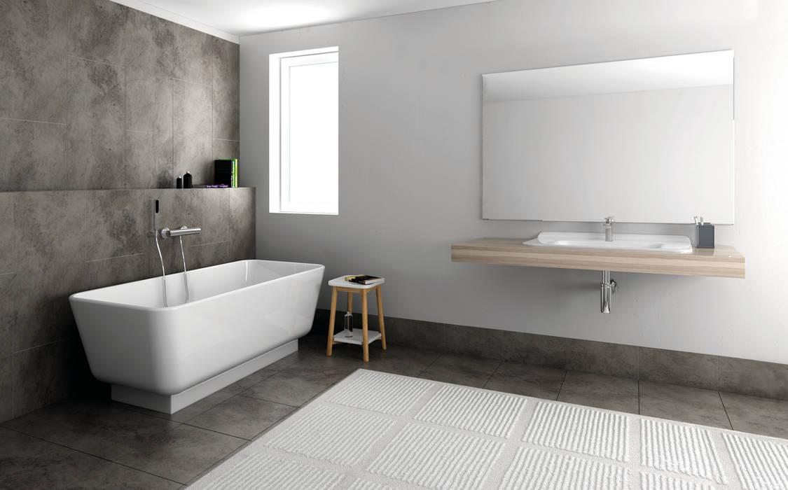 Luna Kollektion - skandinavisches Design für Ihr Badezimmer von Zicco:  Badezimmer von ZICCO GmbH - Waschbecken und Badewannen in Blankenfelde-Mahlow