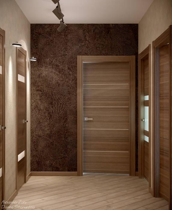 Couloir et hall d\'entrée de style par студия интерьерного ...