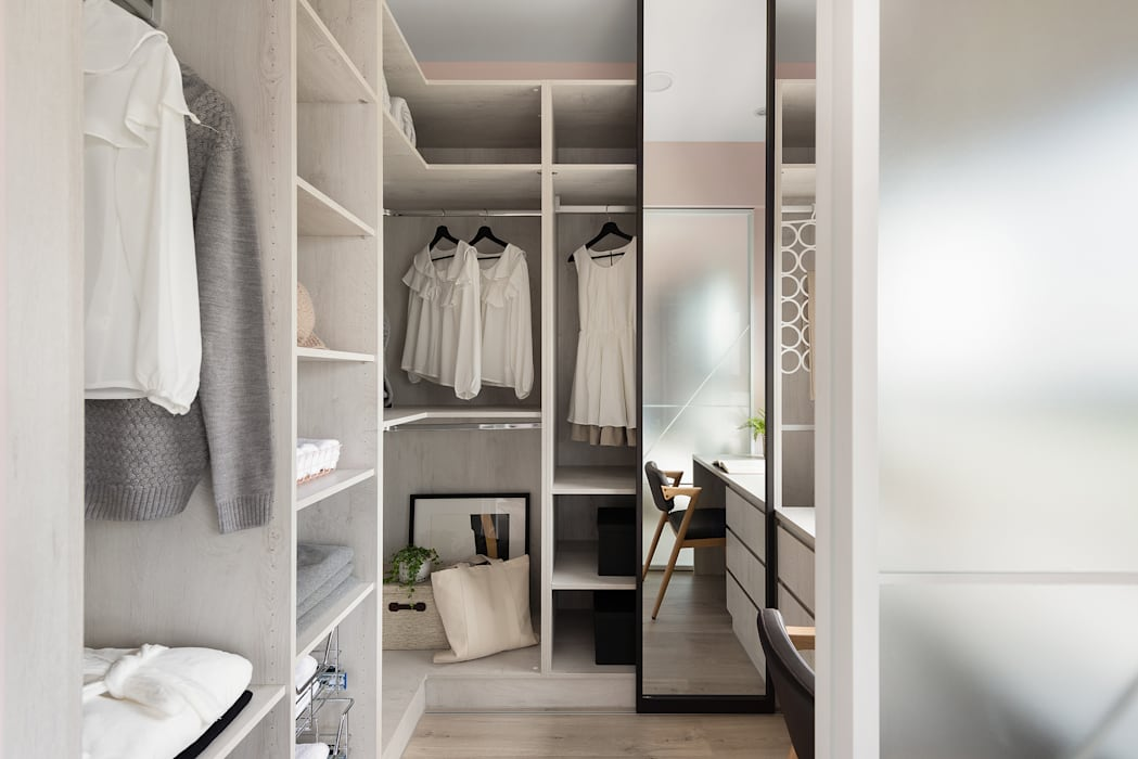 Ruang Ganti Gaya Skandinavia Oleh 寓子設計 Skandinavia