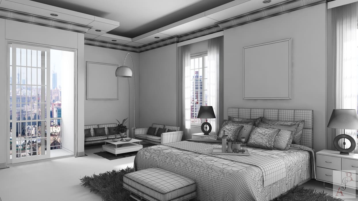 A.BORNACELLI Modern Bedroom