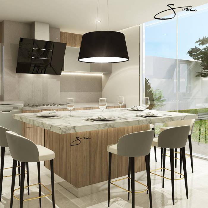 Proyecto de Cocina de sofia c.zarauz-design Moderno Aglomerado
