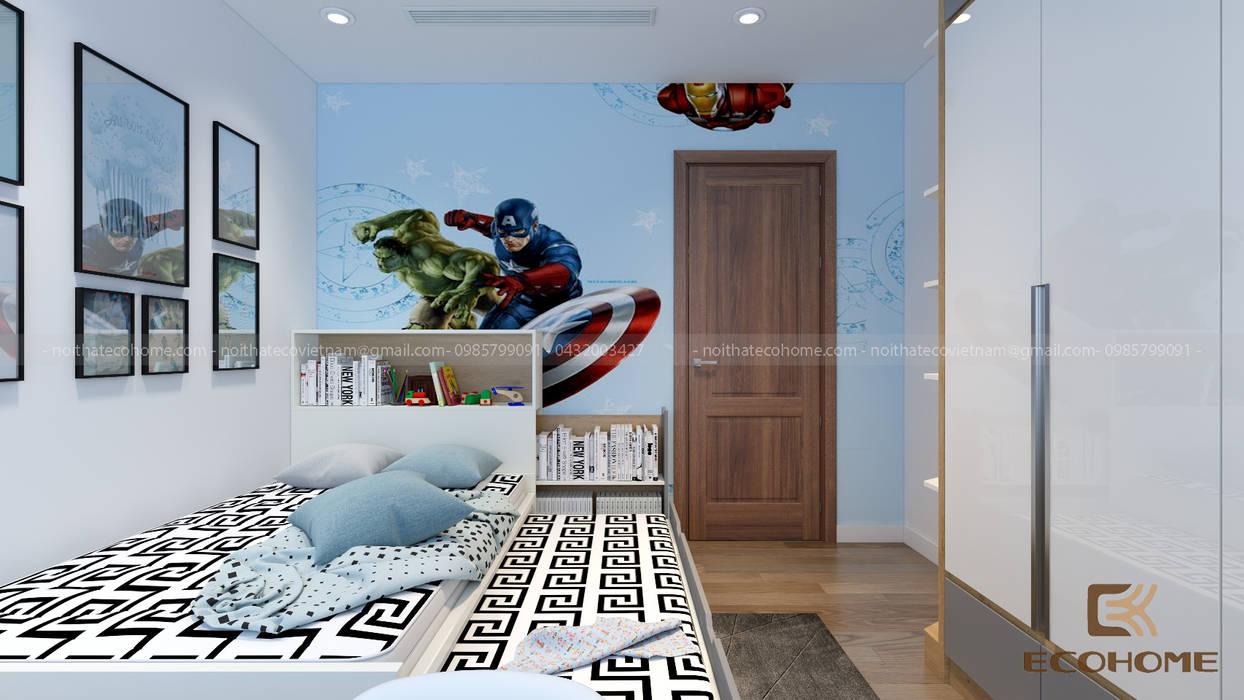 Phòng ngủ con:  Phòng ngủ by Công Ty TNHH Xây Dựng & Nội Thất ECO Việt Nam