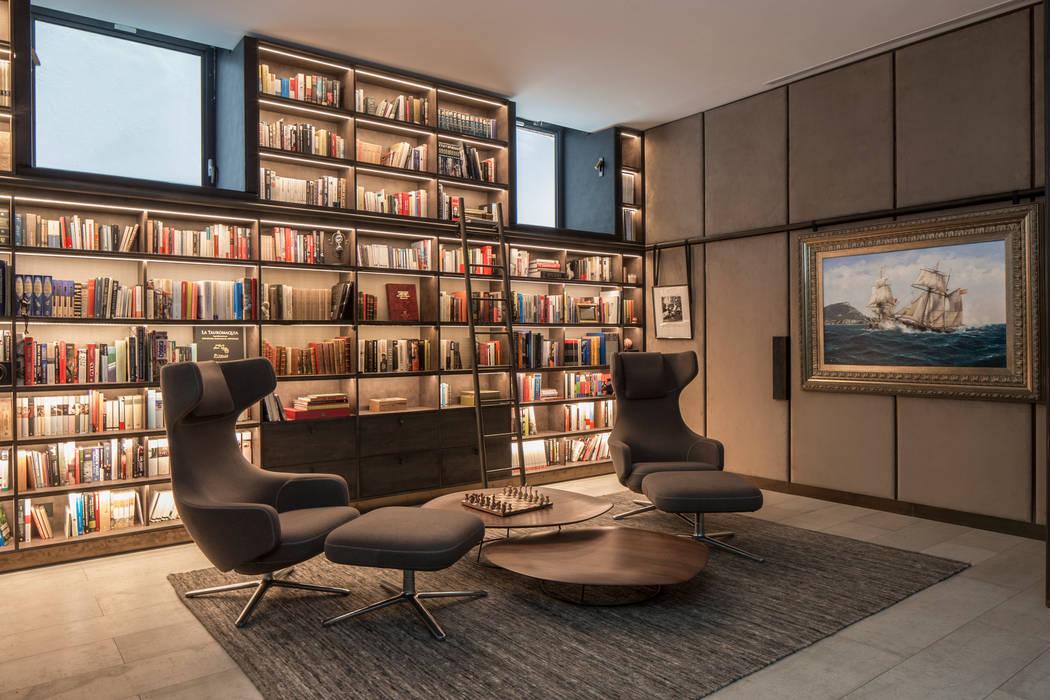St John S Wood Family Home Library Roselind Wilson Design Modern Media Room Homify