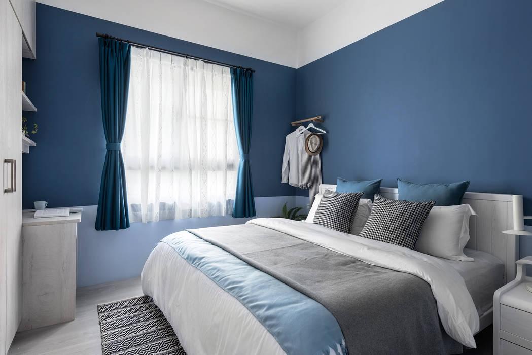 Dormitorios de estilo escandinavo de 寓子設計 Escandinavo