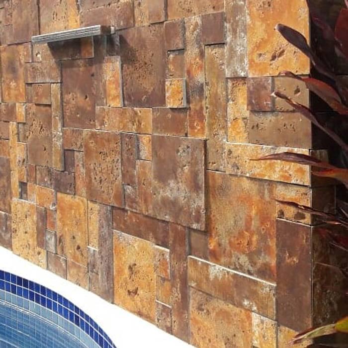 Perfeita Montagem do Painel Paredes e pisos modernos por MAGEN | Revestimentos Cimentícios Moderno Concreto