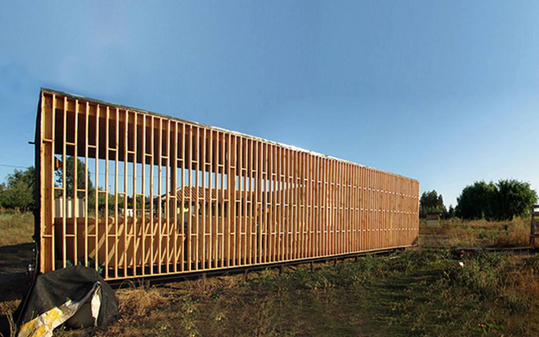 Fachada Poniente: Terrazas  de estilo  por mutarestudio Arquitectura
