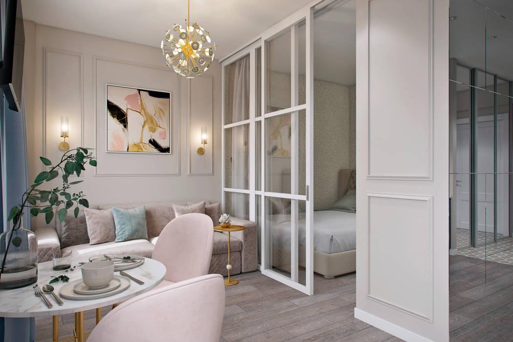 Phòng khách phong cách chiết trung bởi Студия архитектуры и дизайна Дарьи Ельниковой Chiết trung