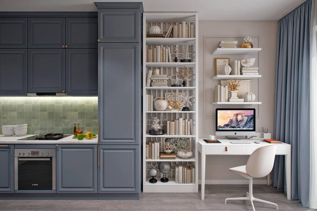 Kitchen by Студия архитектуры и дизайна Дарьи Ельниковой, Eclectic