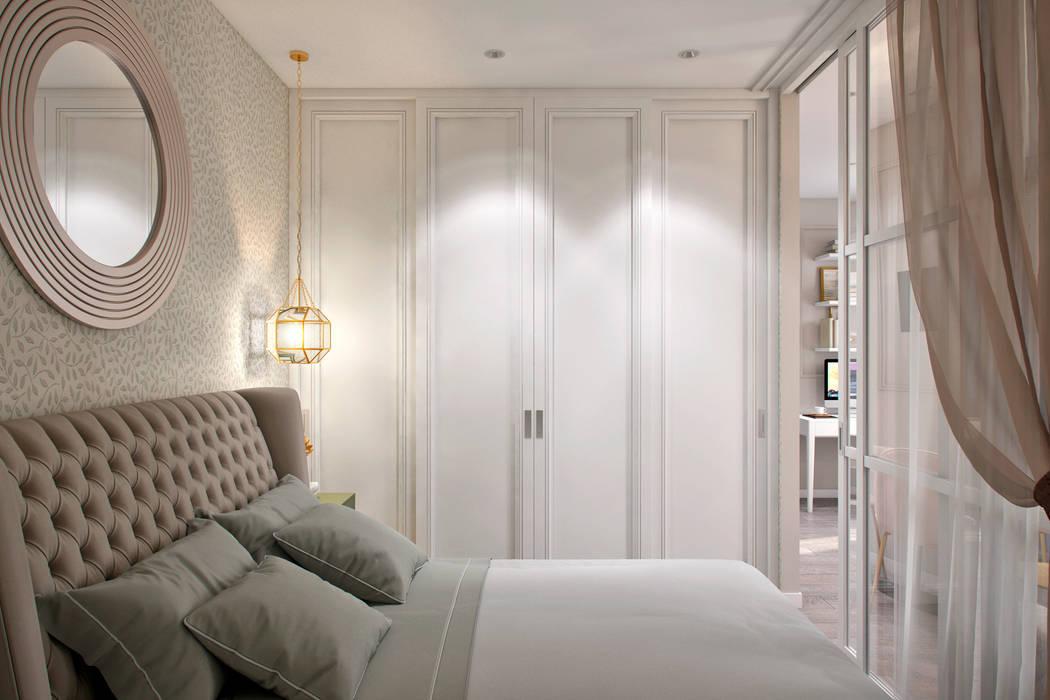 Dormitorios de estilo ecléctico de Студия архитектуры и дизайна Дарьи Ельниковой Ecléctico