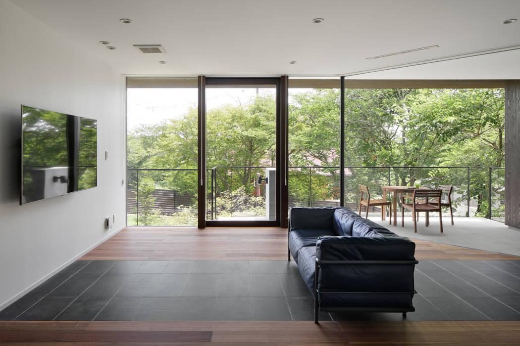Salas / recibidores de estilo  por atelier137 ARCHITECTURAL DESIGN OFFICE, Asiático Vidrio