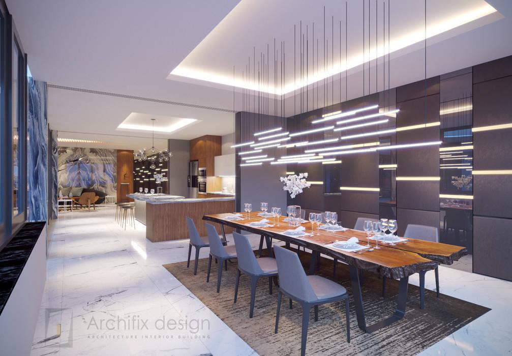 Long Beach center Penthouse - Phu Quoc Phòng ăn phong cách hiện đại bởi Archifix Design Hiện đại