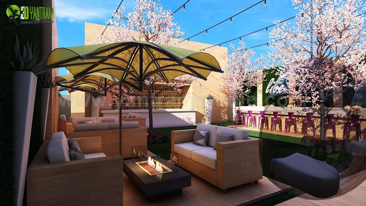 Apartment roof top design ideas: roof terrace by yantram ...