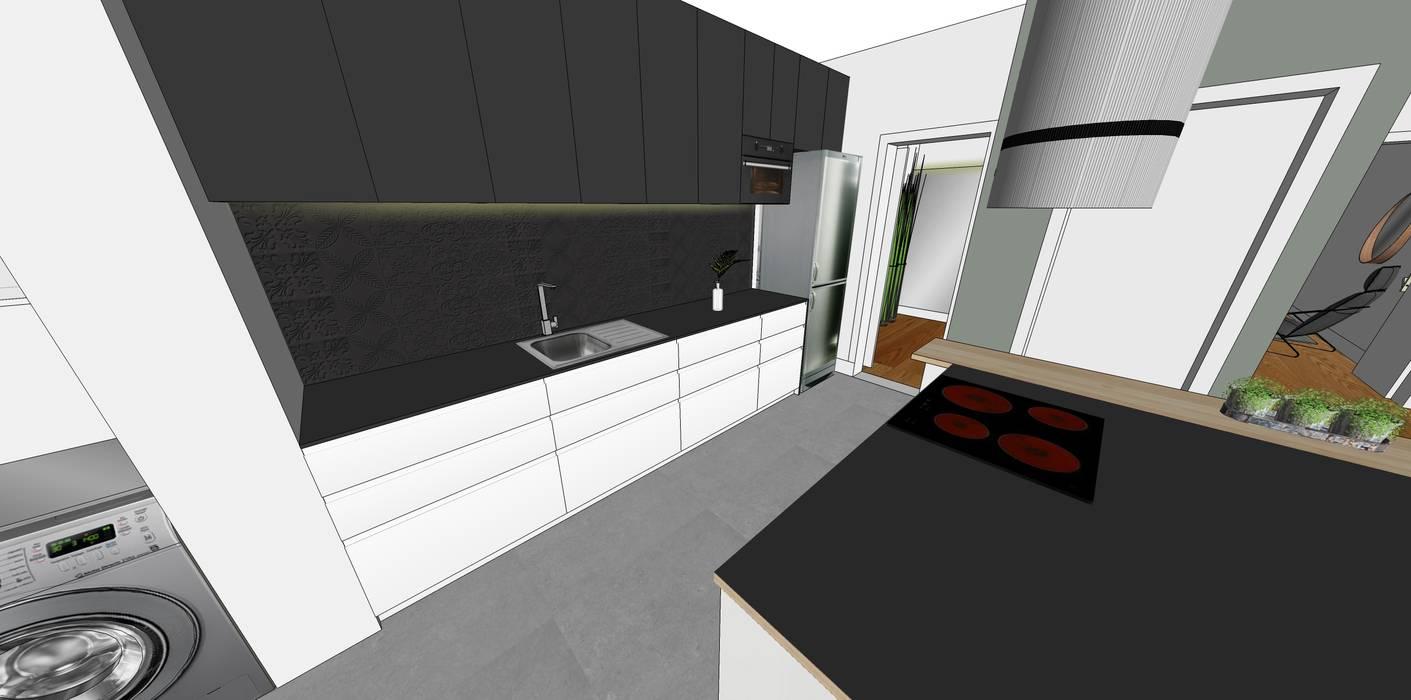Vista da bancada da cozinha:   por Form Arquitetura e Design