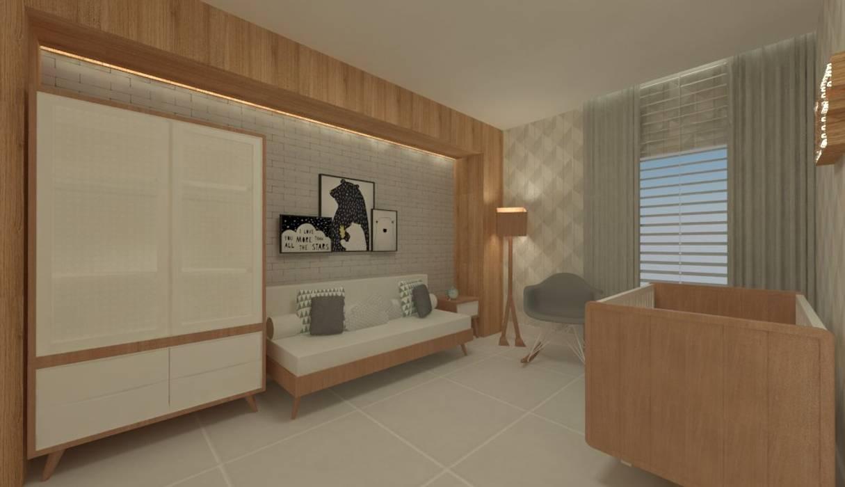 Dormitorios de bebé de estilo  por GABRIELA GUERREIRO   ARQUITETURA, Minimalista