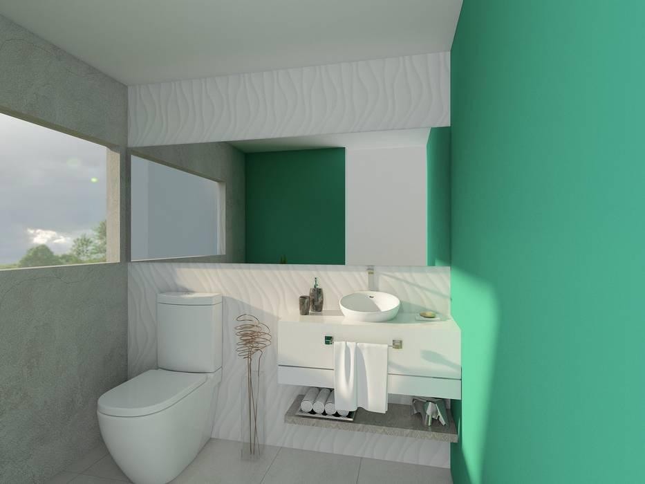 Casa RD: Baños de estilo  por emARTquitectura