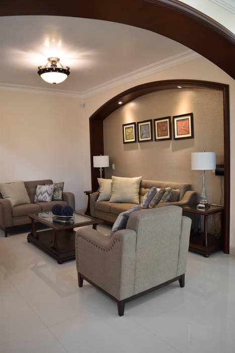 Mediterranean style living room by arketipo-taller de arquitectura Mediterranean
