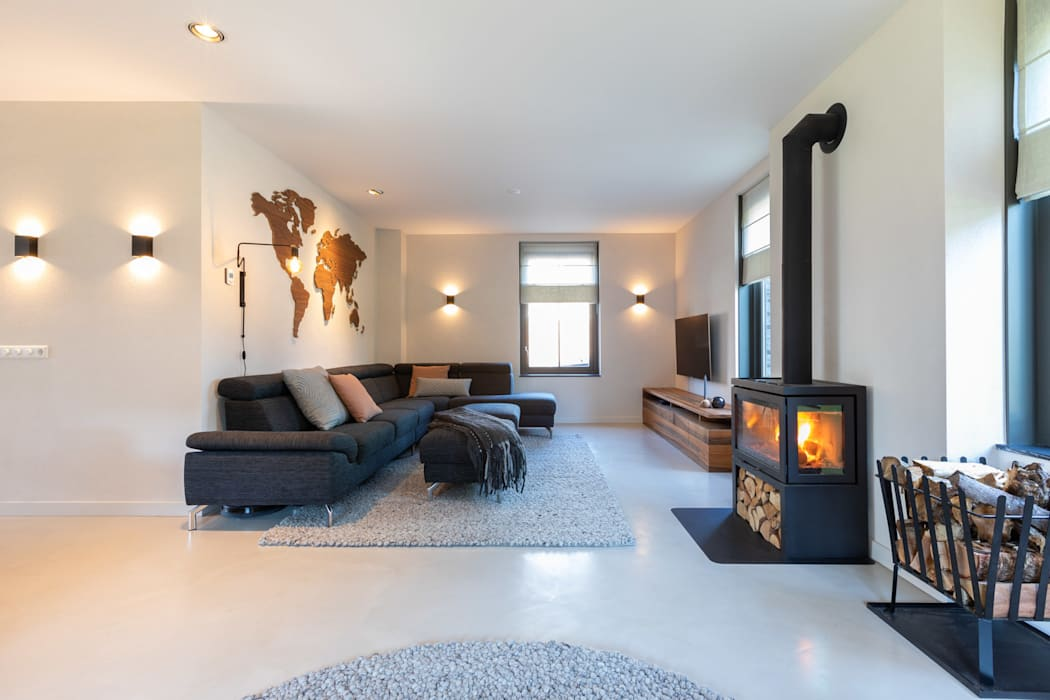Salon moderne par Aangenaam Interieuradvies Moderne Fer / Acier