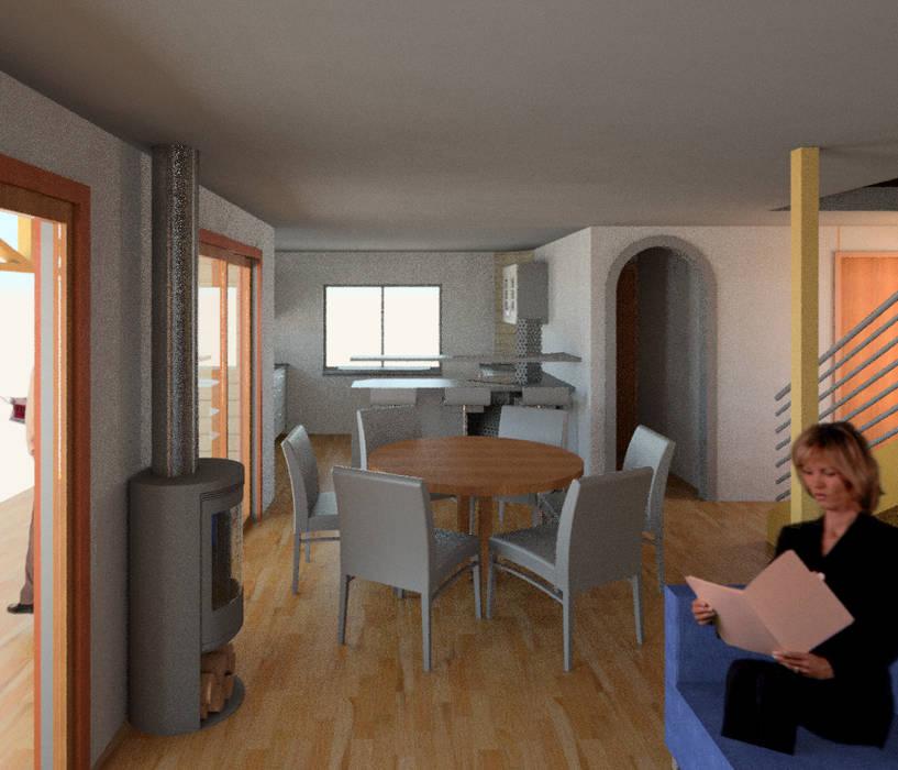 Vista 3d Living Livings de estilo moderno de PROYECTOS ARQUIMORAM Moderno