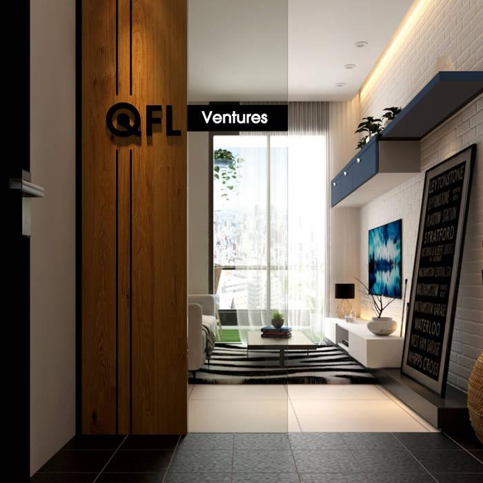 Signage design at Foyer:  Corridor & hallway by Norm designhaus, Scandinavian