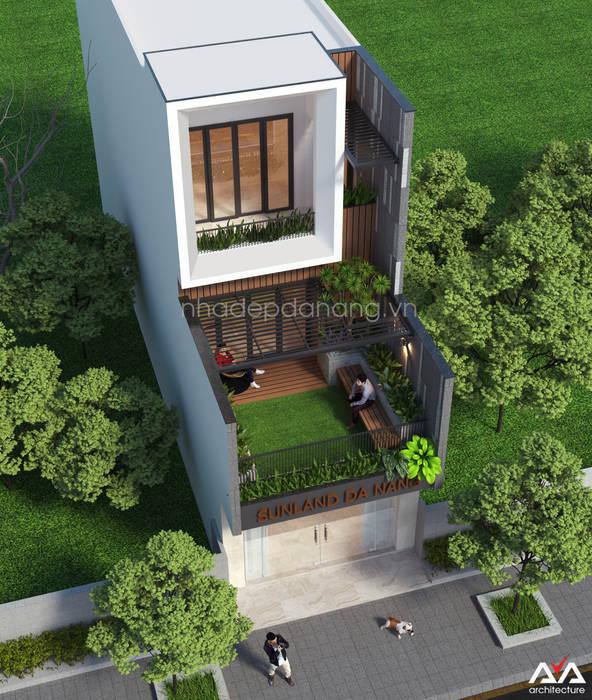Thiết kế nhà đẹp 3 tầng Khu đô thị sinh thái Hòa Xuân, TP. Đà Nẵng:  Nhà by AVA Architecture,