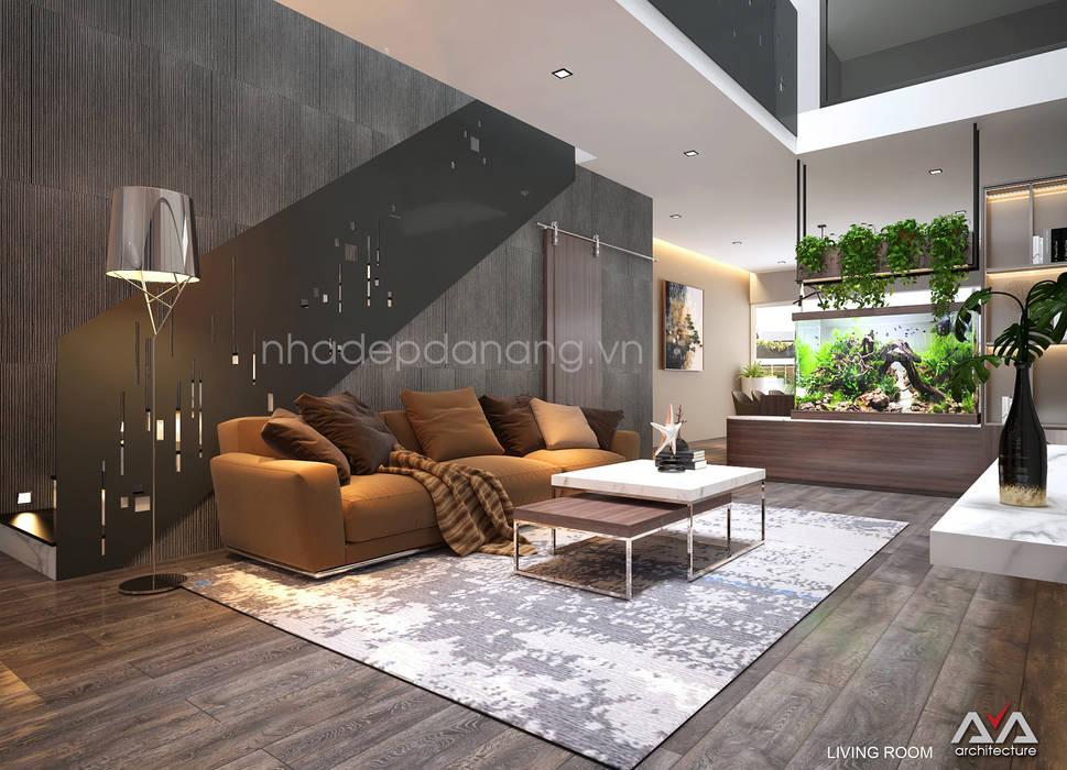 客廳 by AVA Architecture, 現代風