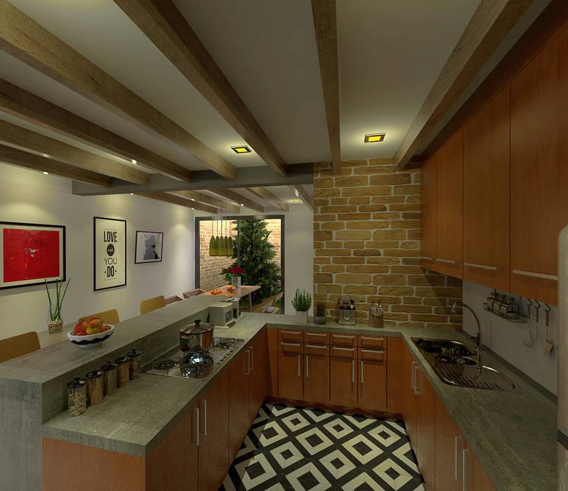 Cocina Con Barra | Cocina Barra Comedor Muebles De Cocinas De Estilo Por Imagen