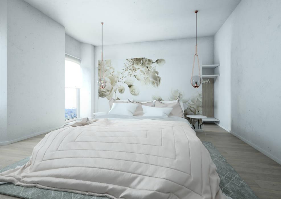 Camera da letto: Camera da letto in stile  di Silvana Barbato, StudioAtelier