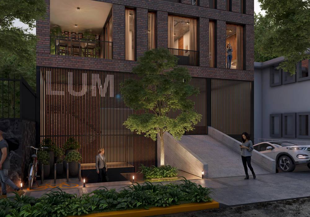 Condominios de estilo  por Stuen Arquitectos,