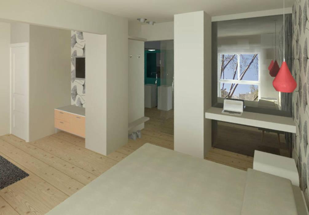 DEPARTAMENTO FAMILIAR: Dormitorios de estilo  por Granada Design,Moderno