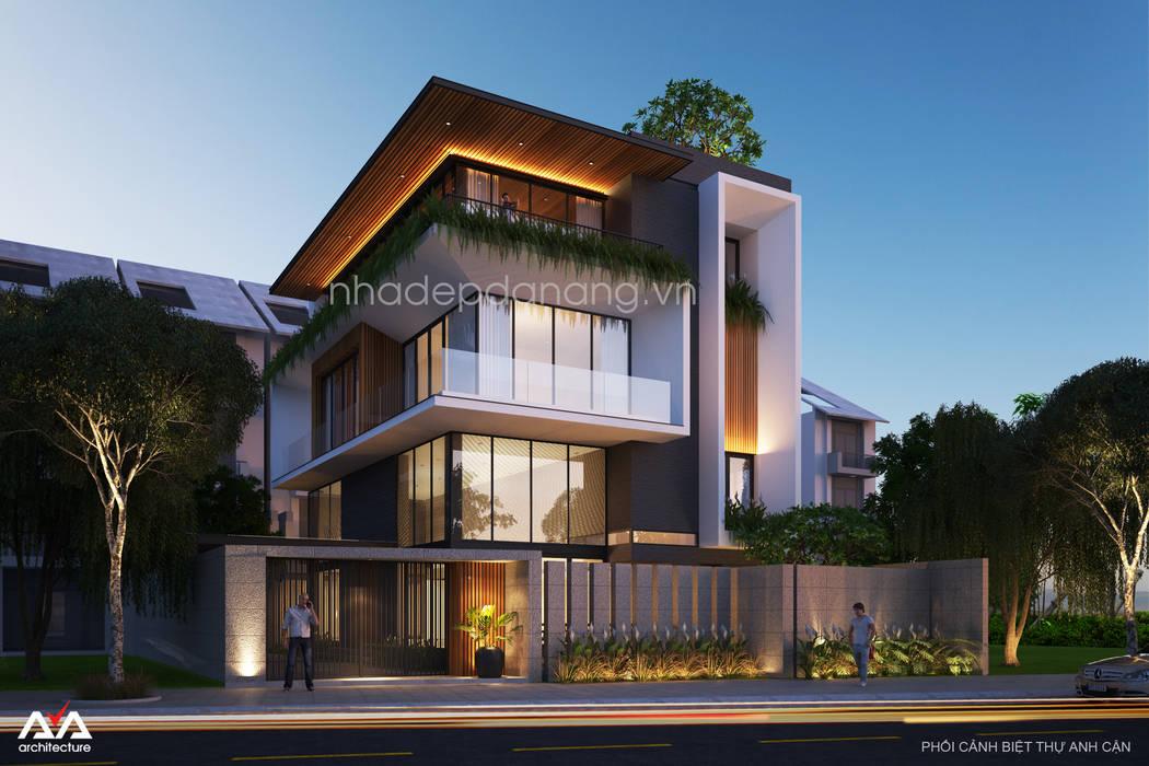 Mẫu thiết kế biệt thự đẹp bởi AVA Architects Hiện đại
