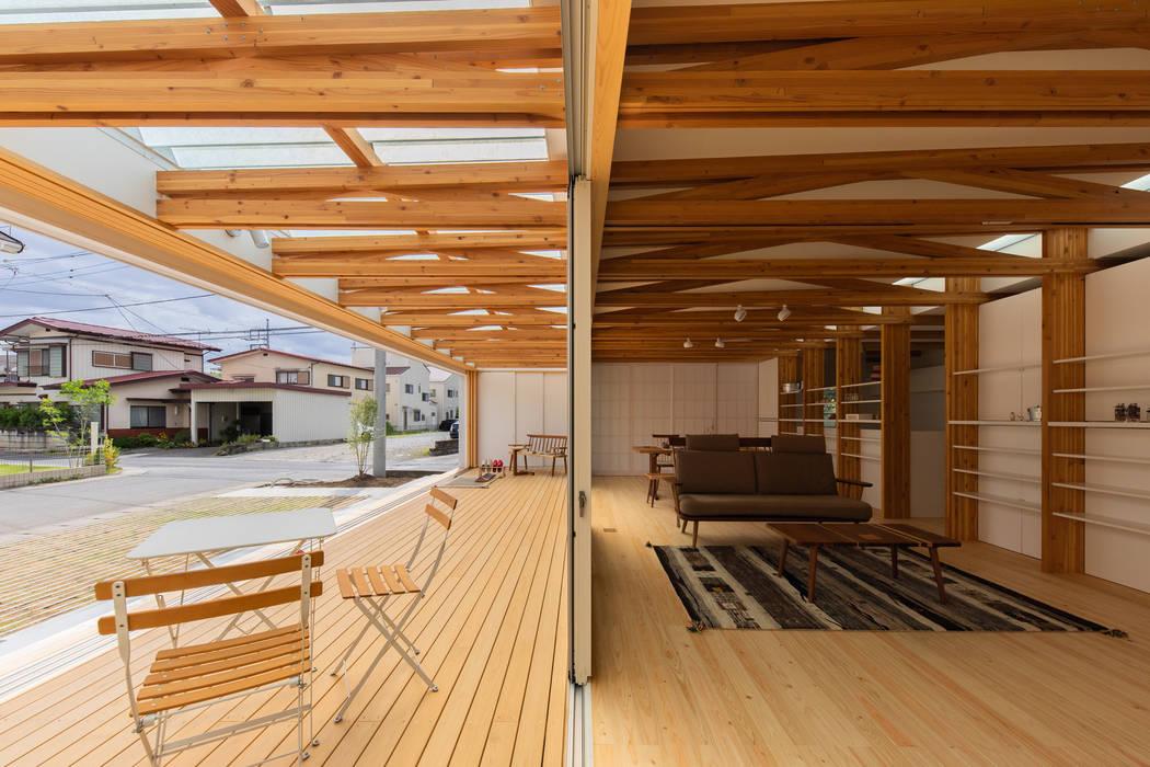 縁側 モダンスタイルの 温室 の インデコード design office モダン
