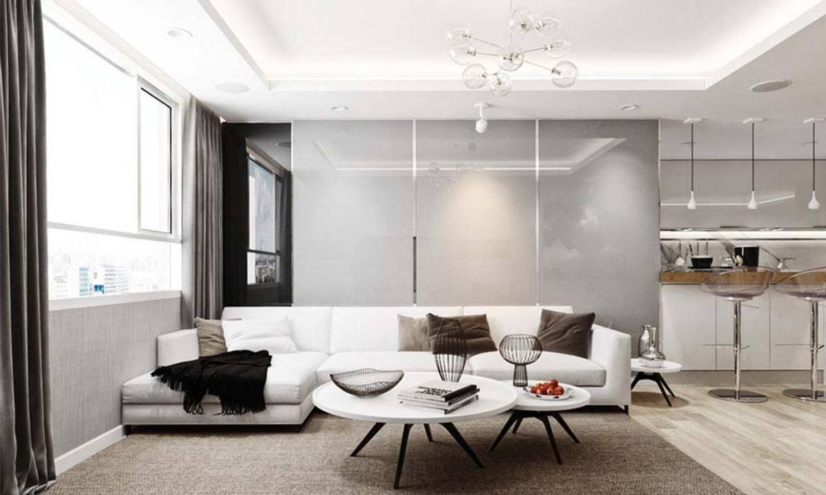 nội thất phòng khách hiện đại:  Phòng khách by CÔNG TY THIẾT KẾ NHÀ ĐẸP SANG TRỌNG