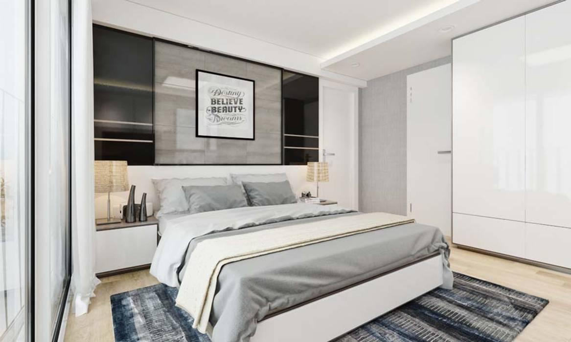 nội thất phòng ngủ hiện đại:  Phòng ngủ by CÔNG TY THIẾT KẾ NHÀ ĐẸP SANG TRỌNG