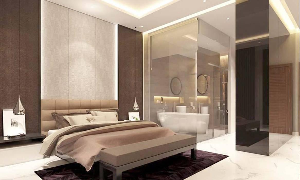 phòng ngủ hiện đại Phòng ngủ phong cách hiện đại bởi CÔNG TY THIẾT KẾ NHÀ ĐẸP SANG TRỌNG CEEB Hiện đại